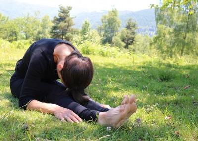 Posture de détente au sol